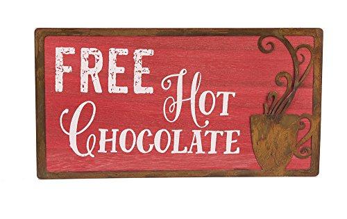 "Free Hot Chocoloate 9 1/2""x3/8""x5"" Modern Wall Sign"