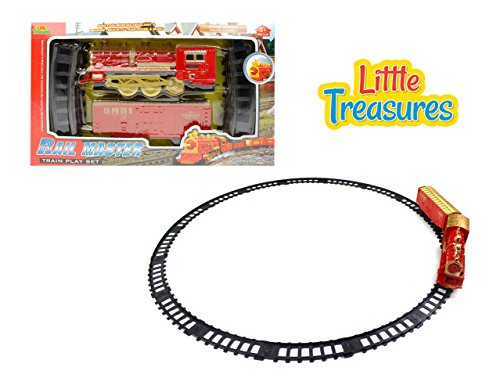 (Little Treasures Engine Rail Master Train Play Set is an Enjoyable Experience Watch Your Kid's Eyes Sparkle Just Like The Engine Headlights As The Train Goes Round for Children of Ages 3 and Up)
