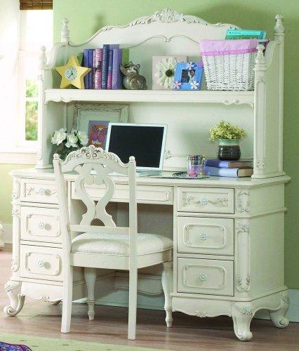 Writing Desk w/ Hutch by Homelegance - Ecru painted finish (1386-10R)