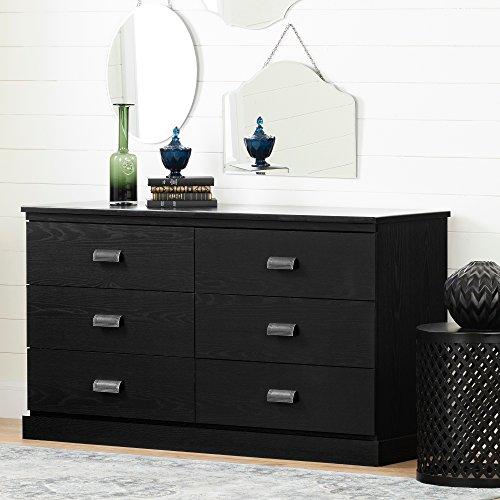Oak Blanket Chest - South Shore 11931 Gloria 6-Drawer Double Dresser, Black Oak