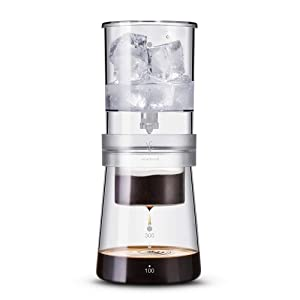 Soulhand Ice Drip Coffee Maker Adjustable Rate Dutch Style Coffee Tea Maker Cold Brew Coffee Dripper 350ml for Home Travel Office