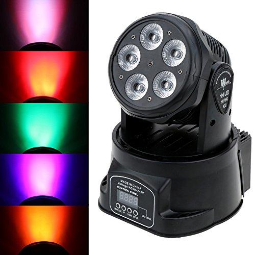Lixada DJ Moving Head Stage Effect Lights 75W RGBWY Par Wash Light 10/15 Channels 4 Control Modes for Disco Club Party Wedding
