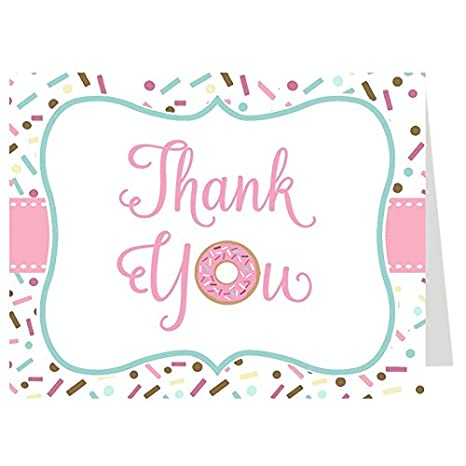 Amazon thank you greeting cards donut oh baby thank you baby thank you greeting cards donut oh baby thank you baby shower thank you cards m4hsunfo
