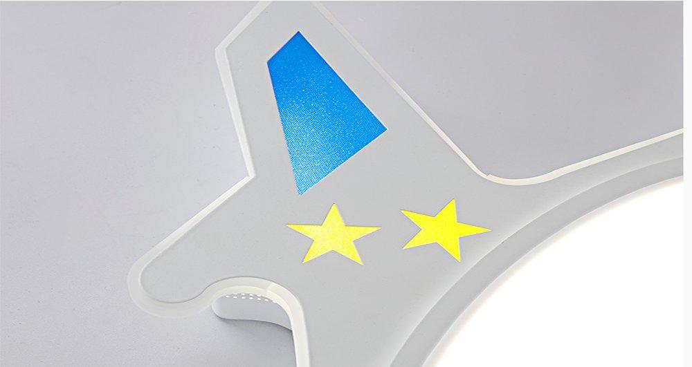 Iluminación decorativa y para usos específicos Luz de techo Las luces de la habitación de los niños los aviones creativo Led lámparas de acrílico diámetro50Sin atenuación de polos MeloveCc