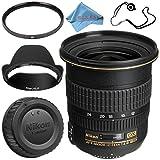 Nikon AF-S DX Zoom-NIKKOR 12-24mm f/4G IF-ED Lens + 77mm UV Filter + Fibercloth + Lens Capkeeper Bundle