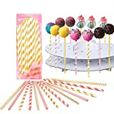 Cake pop sticks Lollipop treat sticks Colorful Lollipop Sticks 100 Pcs Straws Colorful Cake Pops Making Tools for Cake Pop DIY Homemade Fruit Candy Chocolate Lollipop Ice Cream And Ccookie