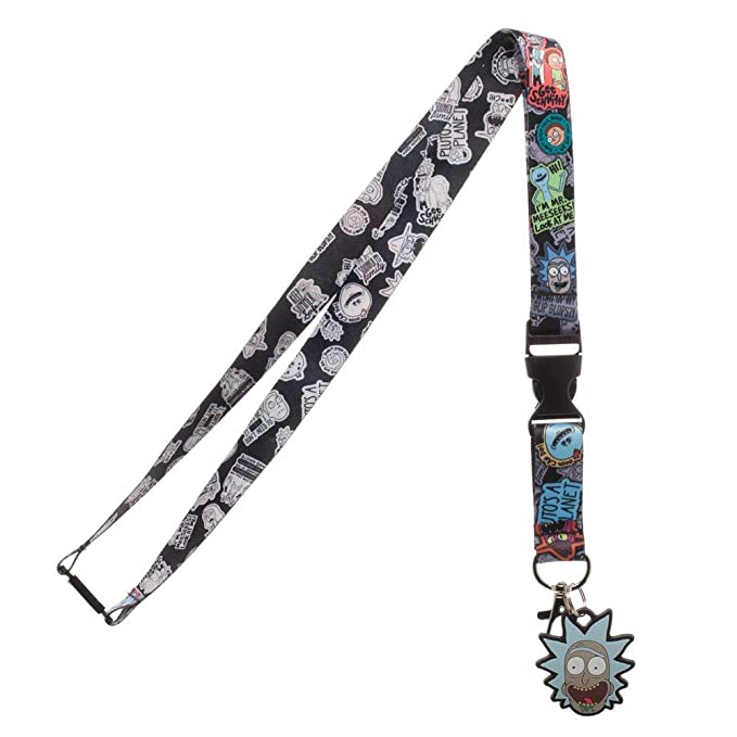 Rick and Morty ID Badge Holder Breakaway Lanyard Keychain