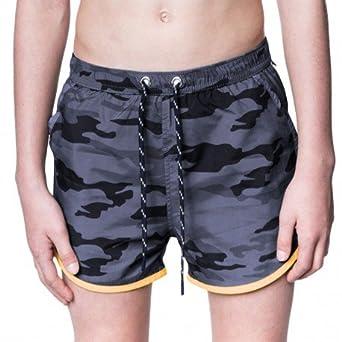 1deef3dc4e Sweet Pants Maillot de Bain Holiday Print Camouflage Black: Amazon ...