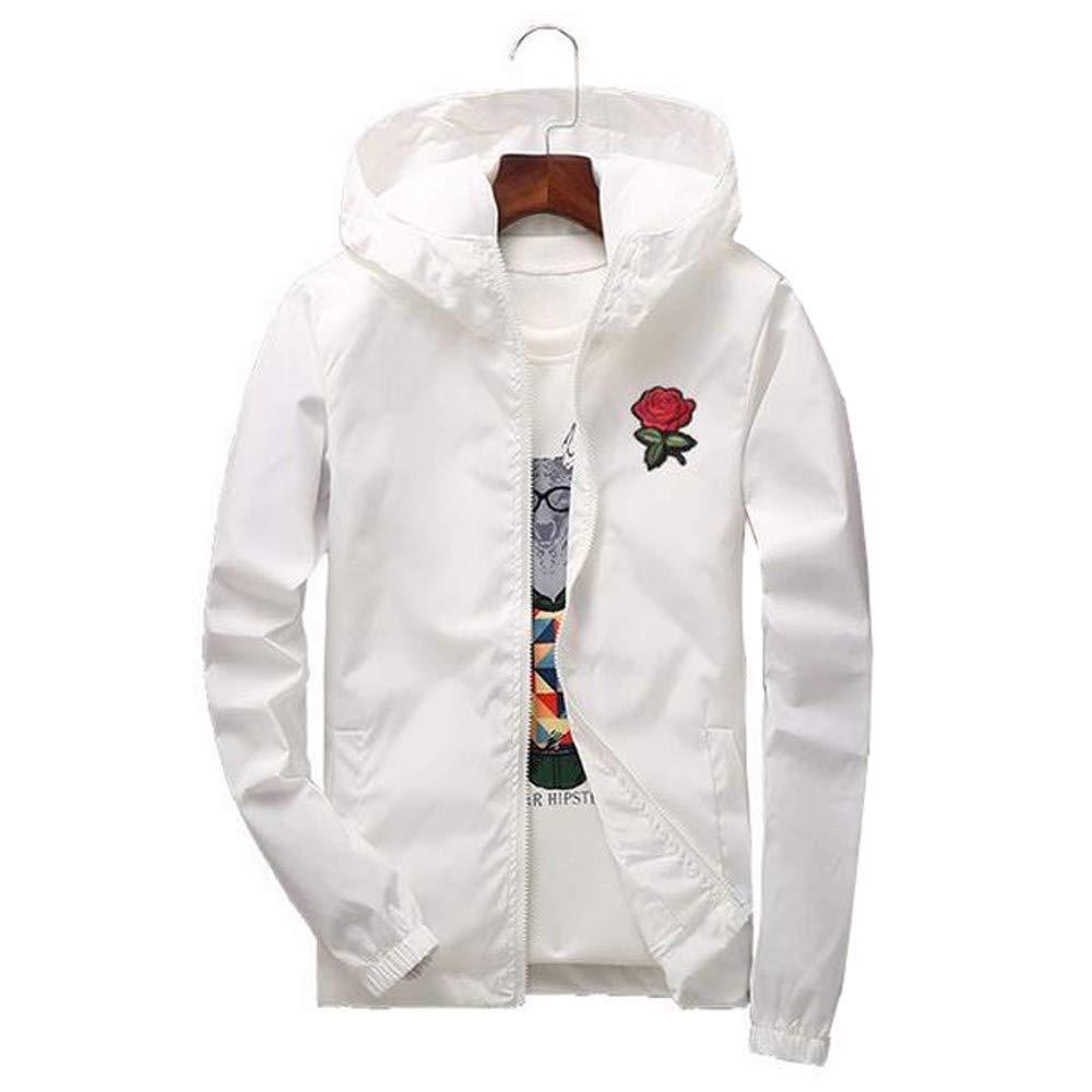 Lily Mens Coat Pervobs Women Men Autumn Lightweight Jacket Printing Sunscreen Hooded Zipper Coat Pullover Outwear Ms