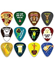 Creanoso Novelty Plectrum Guitar Picks (12-Pack) - Medium Gauge Celluloid - Premium Music Gifts & Guitar Accessories for Husband Dad Boys Son Men Him Boyfriend Musician Gift – Cool Guitar Tool