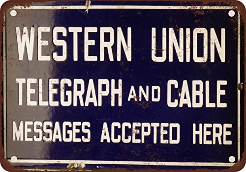 9-x-12-metal-sign-western-union-telegraph-and-cable-vintage-look-reproduction