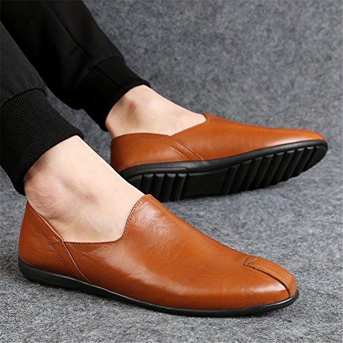 Cuero Conducción Zapatos Hombres Mocasines de y Otoño Slip Comfort Zapatos Do Ons para Caminar para Zapatos Primavera B7vnwR5Exq