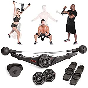 OYO Personal Gym – Full Body Portable Gym Equipment Set for Exercise at Home, Office or Travel – SpiraFlex Strength…