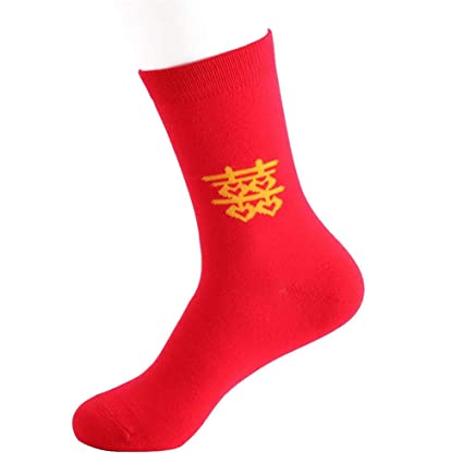 3df9cdc57fc Sea-junop Men s Socks Men Chinese Style Wedding Socks Breathable Elastic  Bridegroom Stockings from (