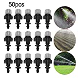 Misting Nozzles Kit Patio Garden Sprinkler Head Set Plastic Atomizer for Agricultural Greenhouse Drip Irrigation