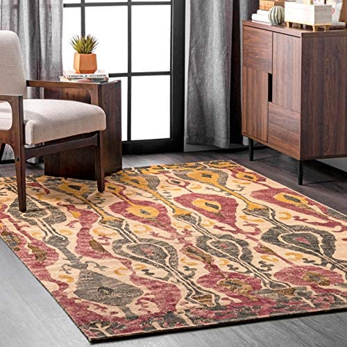 nuLOOM Paisley Machine Woven Jute Rug, 9 x 12 , Natural