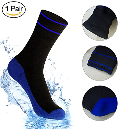 Waterproof Socks for Women and Men, [SGS Certified] Unisex Mid-Calf and Ankle Waterproof & Highly Breathable Socks for Outdoor, Snow Sports, Camping, Trekking, Hiking(1 Pair/ M) (Coolmax Fx Sock)