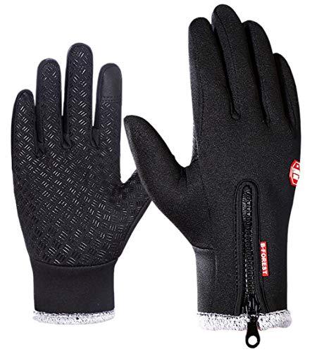 - Men Winter -4℉ Touchscreen Waterproof Gloves Windproof Anti-Slip Warm Gloves