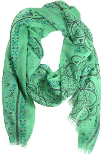 Natural Life Gypsy Frayed Scarf Headband, Green/Blue (Gypsy Head Scarf)