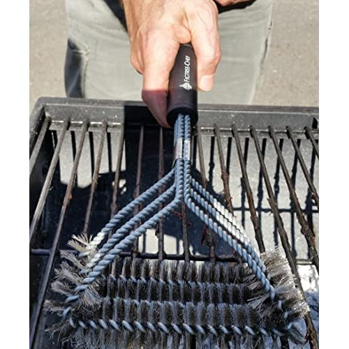 FIGTREE-CHEF Grill Brush - Safe For All Outdoor Grills - 3-in-1 Design With Wide Angled Head for Greater Coverage