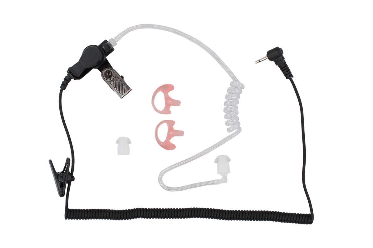 2.5mmイヤホンヘッドセット コイルチューブ付き ハリス警察ラジオ XG25 XG75 P7300 モトローラ ケンウッド用   B07H94268K