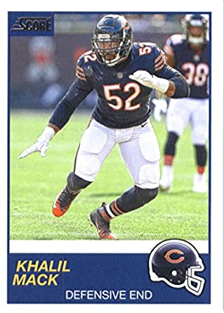 newest 674c1 bbfa7 Amazon.com: 2019 Score Football #207 Khalil Mack Chicago ...