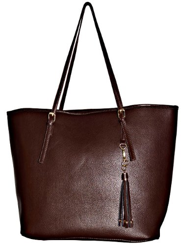Classic Brown Shopper Purse Inspired by Prada, Bags Central