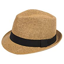 DRY77 Light Paper Straw Fedora Hats