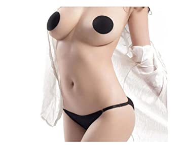 d0a43a31f8965 Amazon.com   2Pairs Reusable Waterproof Invisible Self-Adhesive Stick on Bra  Stealth Pasties Breast Petals Nipple Cover Patches for Lady Women and Girls  ...
