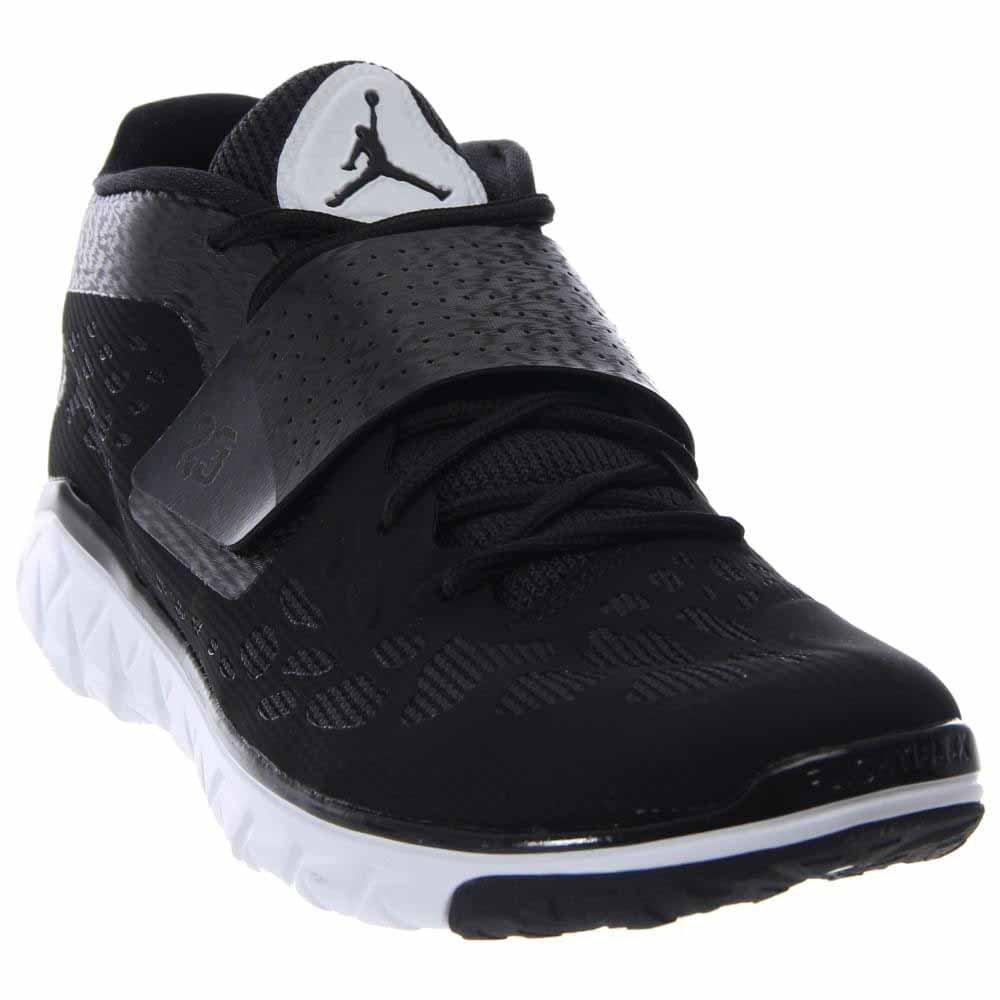 buy popular 1312a 923ff Nike Jordan Mens Jordan Flight Flex Trainer 2 White/Black/White Basketball  Shoe 10.5 Men US
