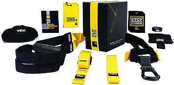 TRX Pro Suspension Training – Kit para entrenamiento de suspensión trainer profesional, para Fitness y Culturismo, correa colgante, negro