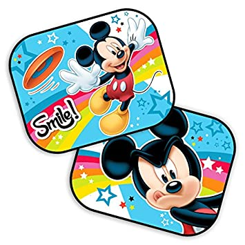 Parasoles para el coche, lote de 2 con diseño de Mickey Mouse, de Disney 44 x 35 cm.: Amazon.es: Bebé