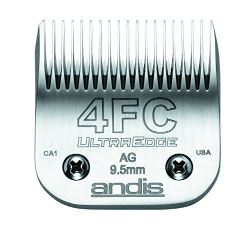Price comparison product image Andis Carbon-Infused Steel UltraEdge Dog Clipper Blade, Size-4 FC, 3/8-Inch Cut Length (64123)