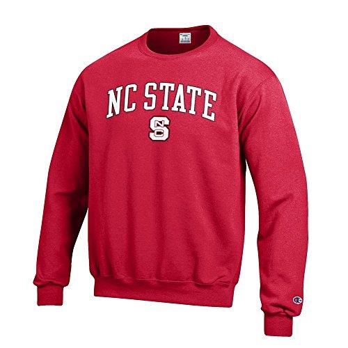 Elite Fan Shop NCAA North Carolina State Wolfpack Men's Team Color Crewneck Sweatshirt, Red, X-Large -
