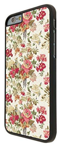585 - Shabby Chic Vintage Pink Country flowers Design iphone 6 6S 4.7'' Coque Fashion Trend Case Coque Protection Cover plastique et métal - Noir