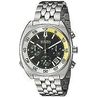Bulova Men's 'Snorkel' Quartz Stainless Steel Watch, Color:Silver-Toned (Model: 96B237)