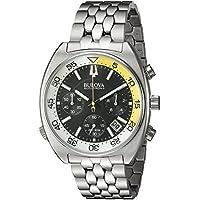 Men's 'Snorkel' Quartz Stainless Steel Watch, Color:Silver-Toned (Model: 96B237)