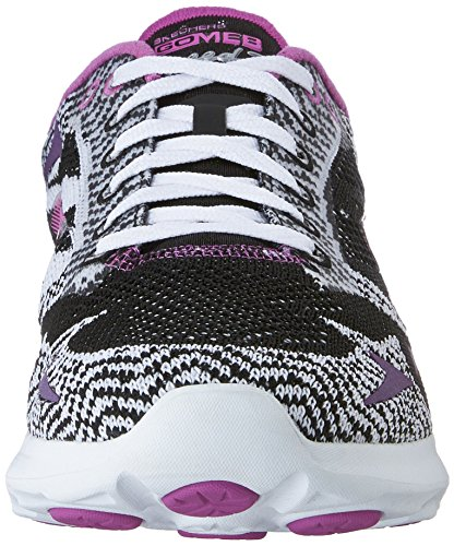 Skechers Go MEB Speed 3 2016, Women's Low-Top Sneakers Black - Schwarz (BKW)