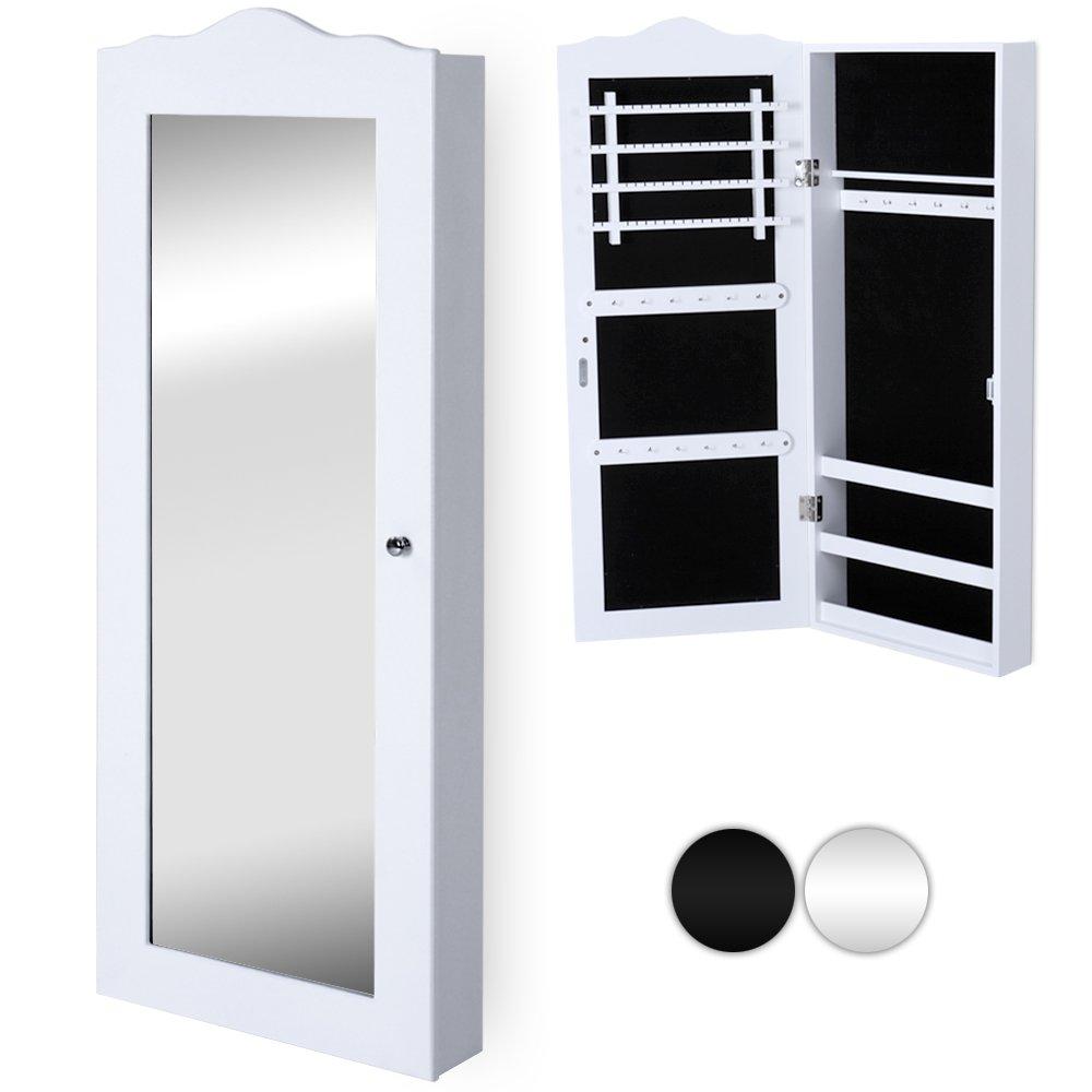 Schmuckschrank mit Spiegel Spiegelschrank / Wandspiegel mit vielen ...