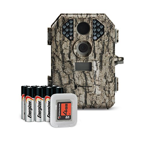 Stealth Cam 7 Megapixel Compact Scouting Camera with Batteries and SD Card, Camouflage (Scouting Digital Camera)