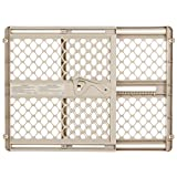 Supergate Ergo Pressure or Hardware Mount Plastic Gate, Sand, Fits Spaces between 26'' to 42'' Wide and 26''high