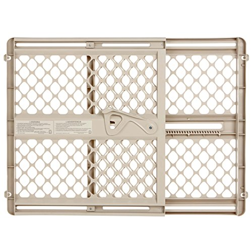 Supergate Ergo Pressure or Hardware Mount Plastic Gate, Sand, Fits Spaces between 26' to 42' Wide and 26'high