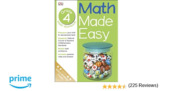 Math Made Easy: Fourth Grade Workbook (Math Made Easy): DK ...
