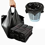 Disposable Garbage Bag Black (100pcs)Disposable Diaper Bags with convenient handle ties, Bin Bags,Durable Trash Bag