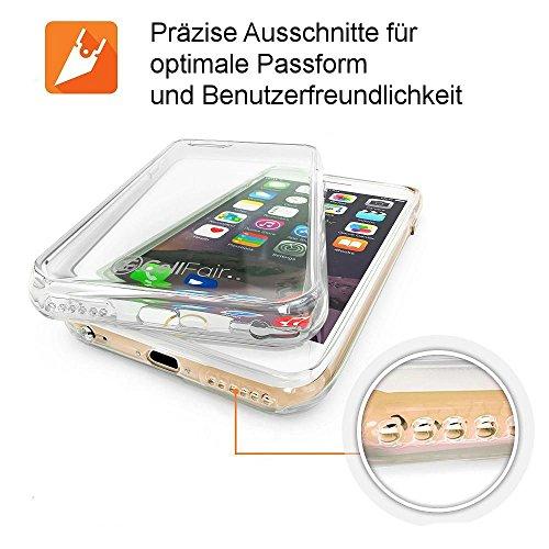 smartec24® iPhone 7 TPU Silikon Case Crystal Clear inkl. kostenloser 3D-Touch fähiger Frontschutzfolie transparente Schutzhülle für effektiven Schutz Ihres iPhones (iPhone 7)