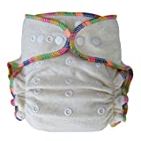 night inserts - Heavy Wetter Baby Night Fitted Cloth Diaper with 2 Inserts, One Size 10-30 Lb, Hemp /Organic Cotton, 1-pack