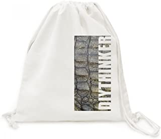 DIYthinker Cuir Crocodile Conception Abstraite Toile Drawstring Backpack Voyage Sacs