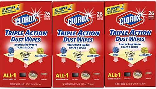 Multi-Surface Wipes: Clorox Triple Action Dust Wipes