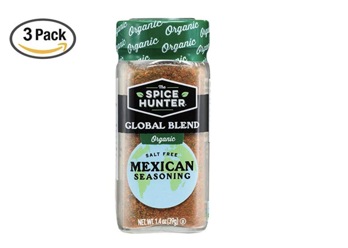 The Spice Hunter Organic Mexican Seasoning Blend, 1.4 oz. jar (3 Pack)