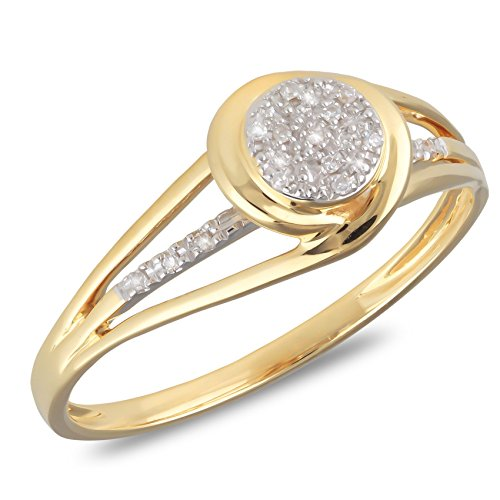 So Diamond Paris-Bague-Diamants-Or Jaune 9 carats 375/000-Femme